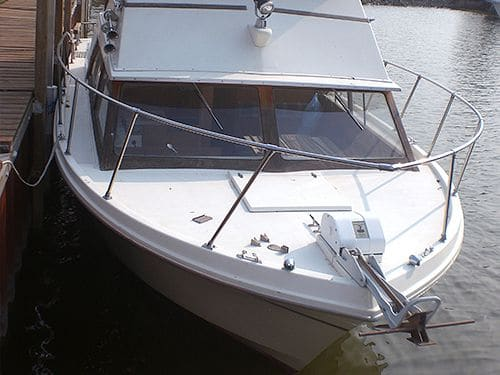 close-up product Nauti-GLIDE on boat by deck